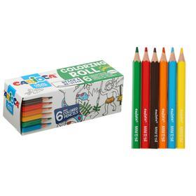 Drawing set CARIOCA Mini Coloring Roll JUNGLE, 6 pencils + 1 coloring 85 x 10cm 42