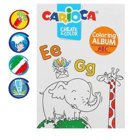 Набор д/рисования Carioca Coloring Album ABC & NUMBERS, 6 флом + 1 раскр + футляр 42985