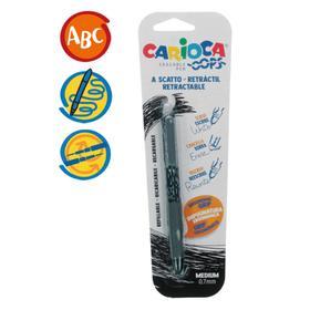"""Ручка """"пиши-стирай"""" капиллярная CARIOCA Oops Retractable, 0.7мм, ластик, черная 43042/01"""