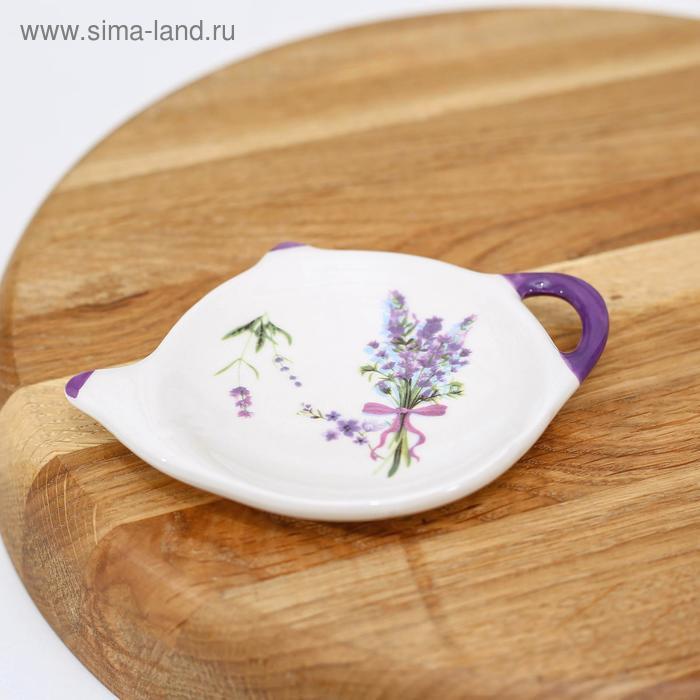 "Stand for tea bag ""Lavender"" 12x8, 4x1, 5 cm"