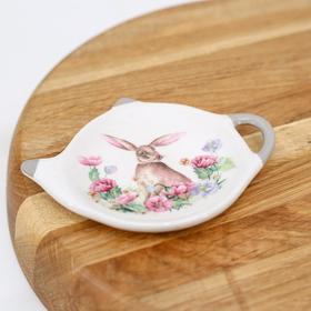 {{photo.Alt || photo.Description || 'Подставка под чайный пакетик Доляна «Зайка», 12×8,4 см'}}