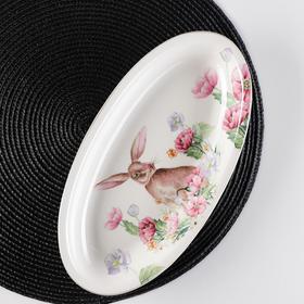 """Dish oval """"Bunny"""" 28x14, 5x3, 5 cm"""