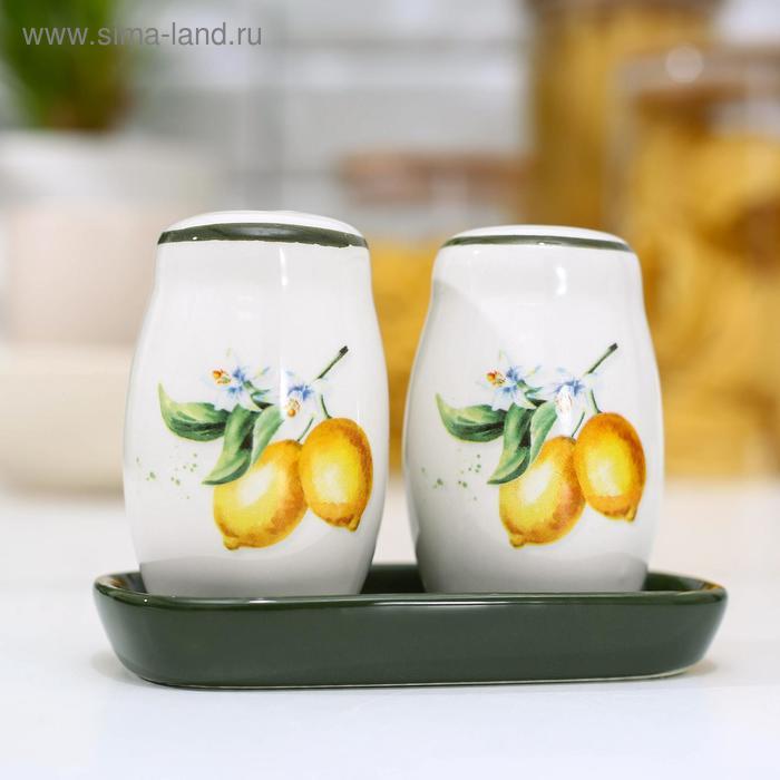 """Set for spices 2 PCs """"Lemon"""" salt and pepper shaker 130 ml 11, 5x6, 2x8, 8 cm"""