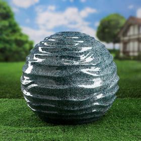 """Садовый декор """"Шар"""", волнистый, цвет зеленый, 33 см, микс"""