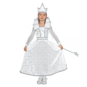 """Костюм """"Снежная королева"""" платье, корона, палочка, размер 28 рост 98-104"""