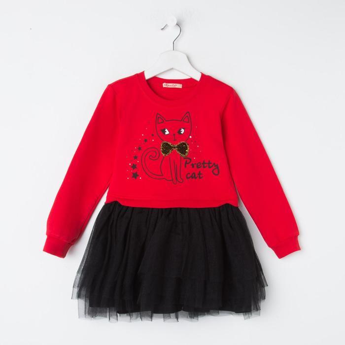Платье для девочки, цвет красный, рост 92 см - фото 2024778