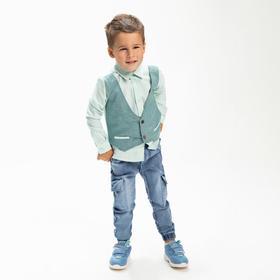 Рубашка для мальчика, цвет зелёный, рост 116 см