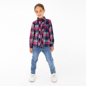 Рубашка для девочки, цвет малиновый, рост 110 см