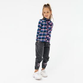 Рубашка для девочки, цвет синий, рост 110 см