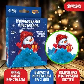 Набор для творчества «Лучистые кристаллы»: Снеговик, цвет синий