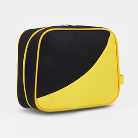 71069/600 Cosmetic bag dor, 22 * ​​10 * 18, section with zipper, black / lemon