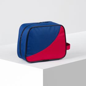 71069/600 Cosmetic bag dor, 22 * ​​10 * 18, zippered, blue / red