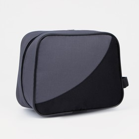 71069/600 Cosmetic bag dor, 22 * ​​10 * 18, zippered, gray / black