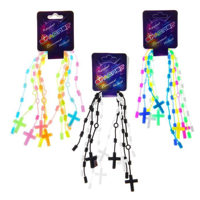 Карнавальный браслет «Креатив», набор 6 шт., цвета МИКС