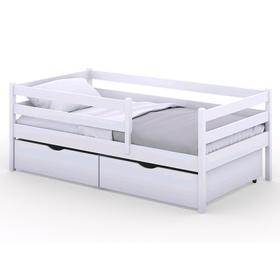 Кроватка Viki, спальное место 160х80 см, цвет белый,  + ящики цвет белый
