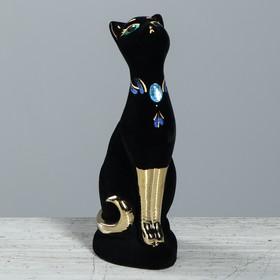 Копилка 'Кошка' флок, булат, чёрная Ош