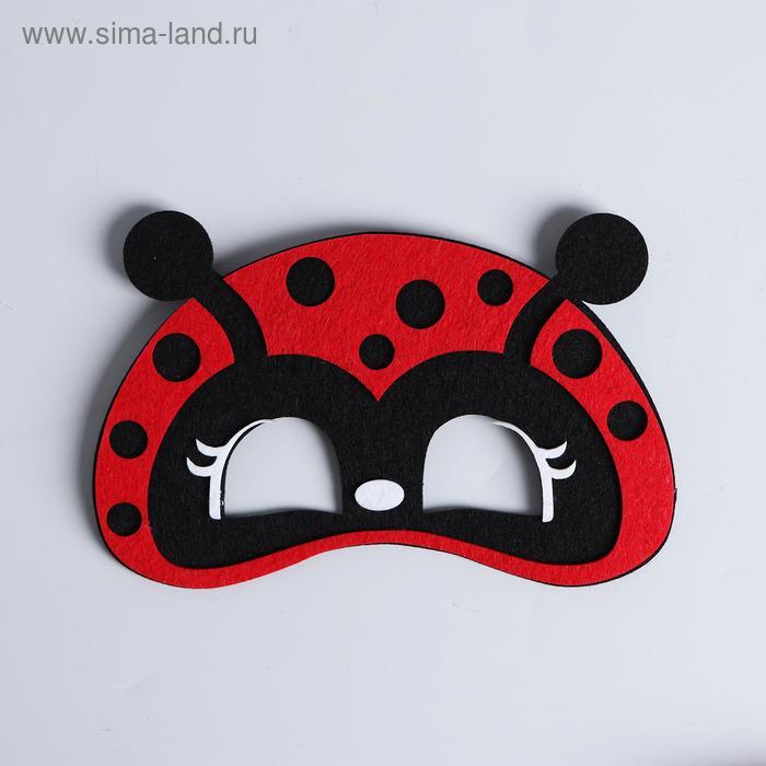 """Carnival mask """"ladybug"""" felt"""