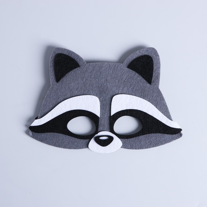 "Carnival mask ""Raccoon"" felt"