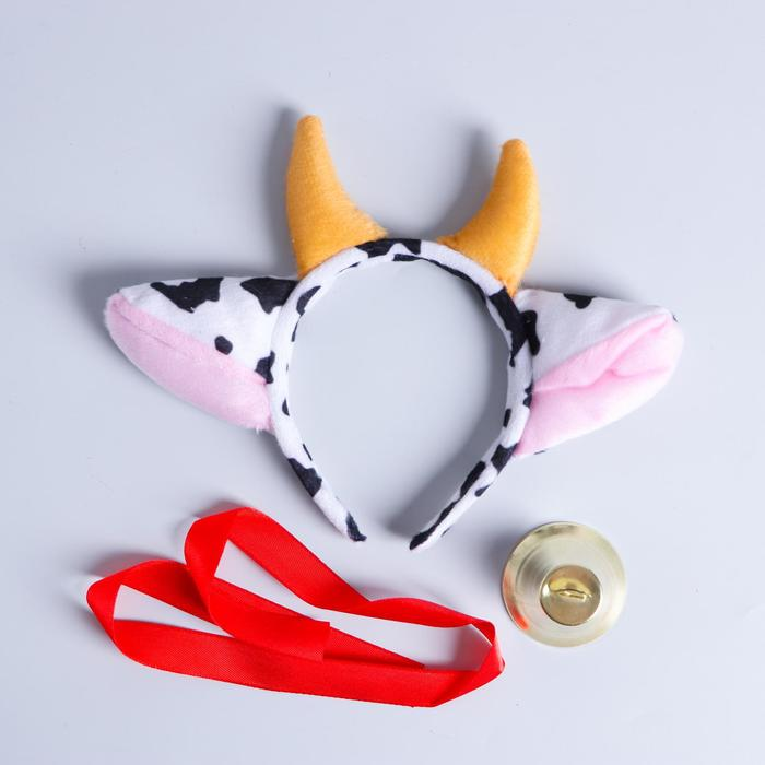 "Carnival set ""Frosya the Cow"" rim, bell"