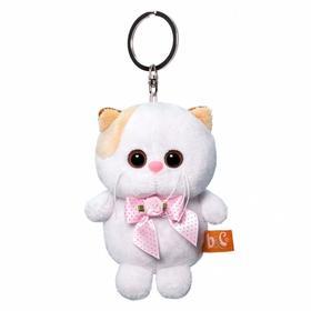 Мягкая игрушка-брелок «Кошечка Ли Ли с розовым бантиком», 12 см