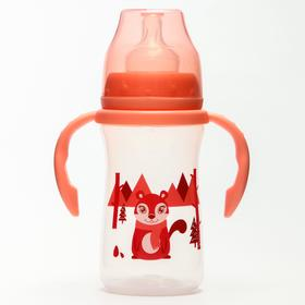 Feeding bottle, with handles, 270 ml., color red
