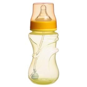 Бутылочка для кормления, широкое горло, от 6 мес., 300 мл., цвет желтый
