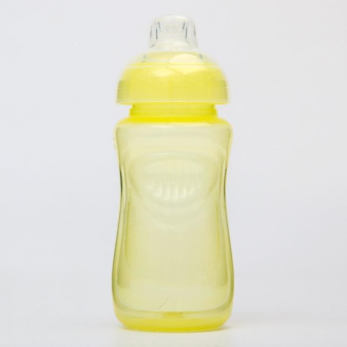 Поильник детский с мягким носиком, 300 мл., цвет желтый - фото 495351