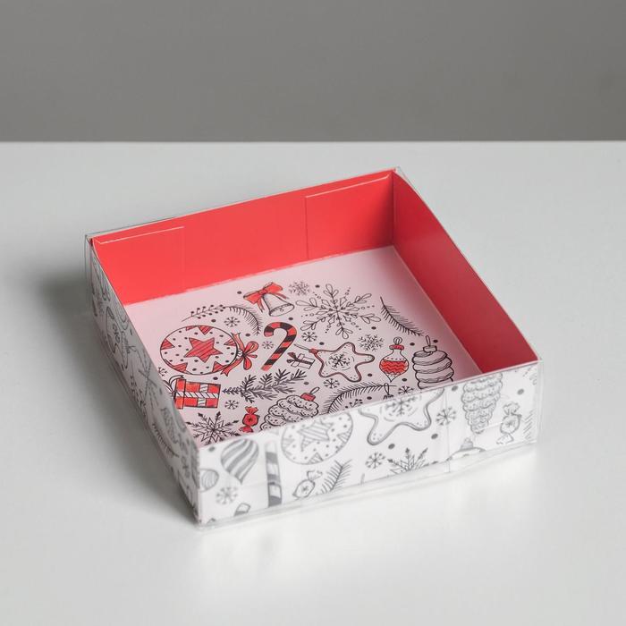 Коробка для кондитерских изделий «Время добрых подарков», 12 × 12 × 3 см
