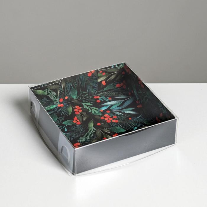 Коробка для кондитерских изделий Happy new year, 12 × 12 × 3 см