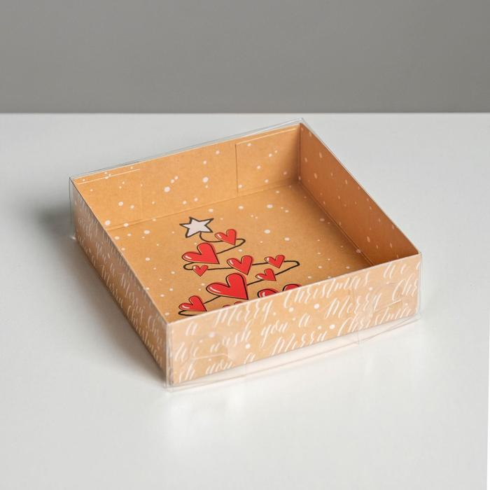Коробка для кондитерских изделий Winter Love, 12 × 12 × 3 см