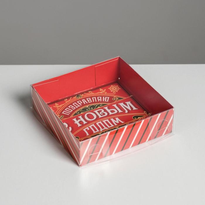 Коробка для кондитерских изделий «Ретро», 12 × 12 × 3 см