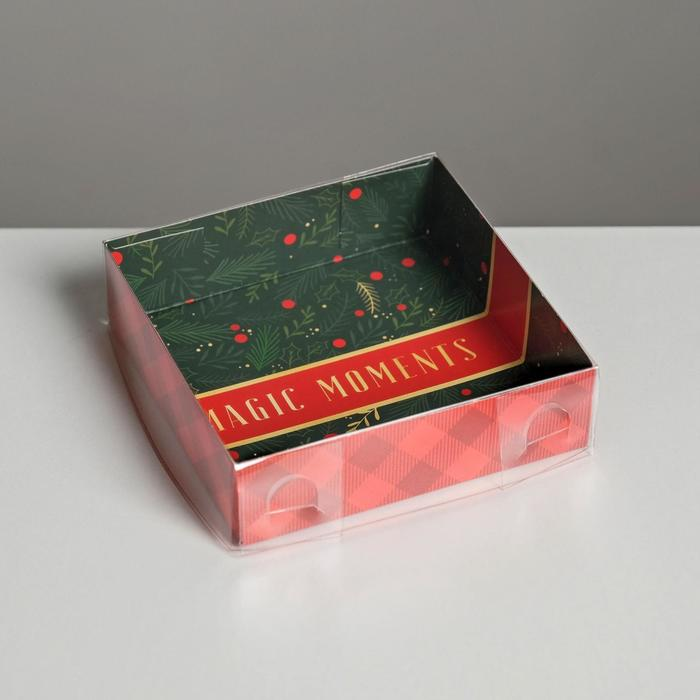 Коробка для кондитерских изделий Magic Moments, 12 × 12 × 3 см