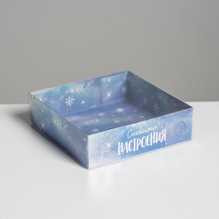 Коробка для кондитерских изделий «Пингвиненок», 12 × 12 × 3 см