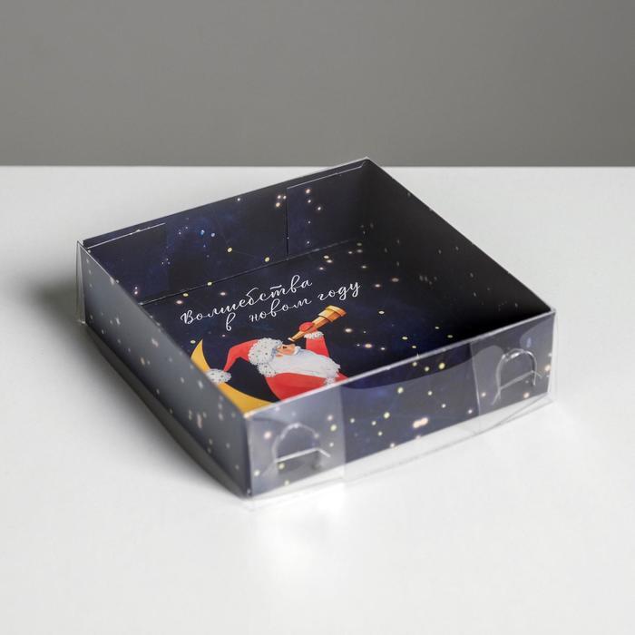 Коробка для кондитерских изделий «Дедушка Мороз», 12 × 12 × 3 см