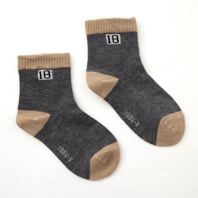 """Collorista children's socks """"plain"""", size 13-17 (2-4 years), color gray"""