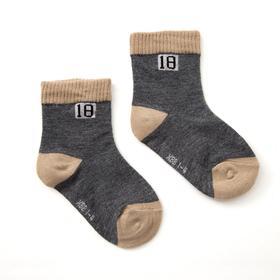 Носки детские Collorista, цвет серый, размер 33-36 (21-23 см), (8-10 лет)