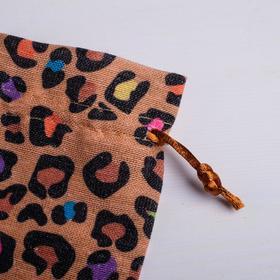 Мешок подарочный «Леопард», 10 х 16 см