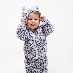Комплект детский(джемпер, брюки), цвет белый, рост 68 см