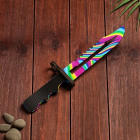 Сувенир деревянный «Штык нож», радужное лезвие