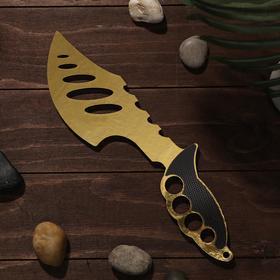 Сувенир деревянный «Топор», жёлтое лезвие