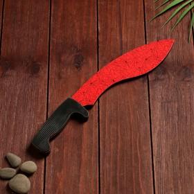 Сувенир деревянный «Мачете- кукри», красный мрамор