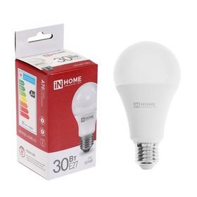 Лампа светодиодная IN HOME LED-A70-VC, Е27, 30 Вт, 230 В, 4000 К, 2700 Лм