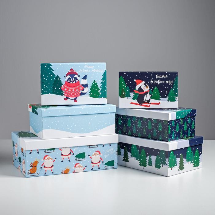 Набор подарочных коробок 6 в 1 «Персонажи», 20 х 12,5 х 7,5 - 32,5 х 20 х 12,5 см - фото 483918