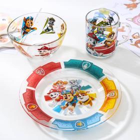 Набор посуды детский Priority «Щенячий патруль», 3 предмета: кружка 200 мл, миска d=13 см, тарелка d=20см