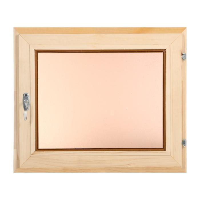 Окно, 50×60см, двойное стекло, тонированное, из липы