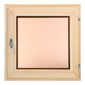 Окно, 50×50см, однокамерный стеклопакет, тонированное, из липы