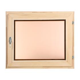 Окно, 50×60см, однокамерный стеклопакет, тонированное, из липы