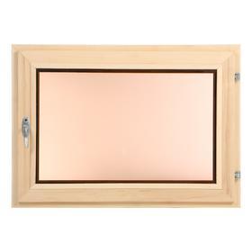 Окно, 50×70см, однокамерный стеклопакет, тонированное, из липы