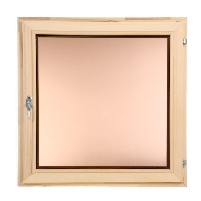 Окно, 70×70см, однокамерный стеклопакет, тонированное, из липы