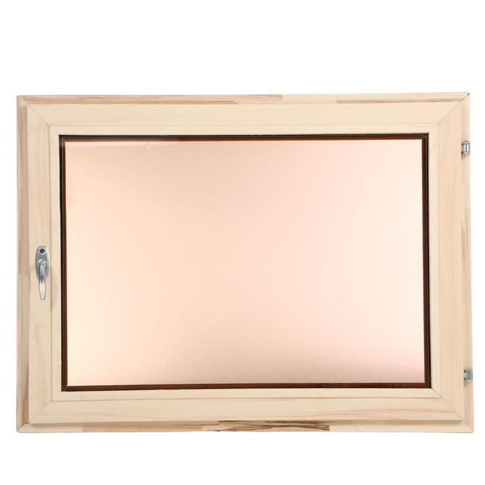 Окно, 60×80см, однокамерный стеклопакет, тонированное, из липы
